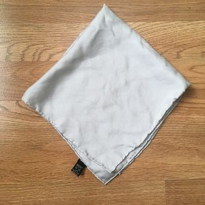 Gray Silk Pocket Square